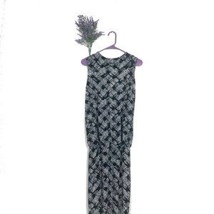 Norma Kamali OMO Black Pattern Sleeveless Dress XS